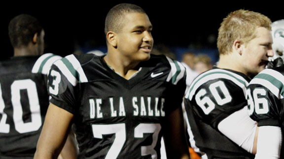 Larry Allen Jr. is the son of one of greatest linemen in NFL history and was a key starter last season for CIF Open Division champion De La Salle. Photo by Willie Eashman.