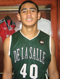 Devin Asiasi as a freshman for the DLS basketball team.