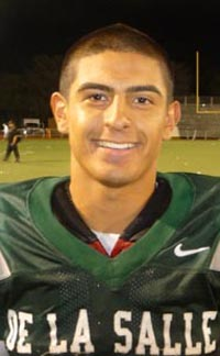 De La Salle RB Andrew Hernandez is returning standout from 2014 squad. Photo: Mark Tennis.
