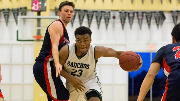 El Cerrito's Carlos Johnson drives the lane during team's big win over Campolindo last Saturday that involved two State Top 20 teams. Photo: Everett Bass Photography.