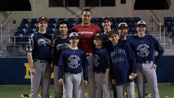 Two-time NL home run king and former State Athlete of the Year Giancarlo Stanton stays connected to his high school in Sherman Oaks. Photo: ndhs.org.