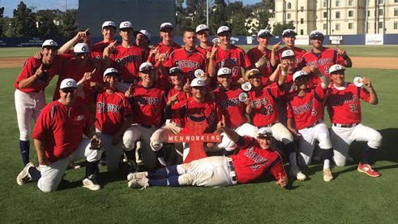 Christian of El Cajon players pose after they won San Diego Section D3 title. Photo: EastCountySports.com.