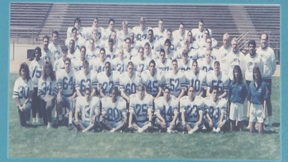 This photo of Lompoc's 1990 CIF Southern Section Division VII title team is taken from a game program. In 1989-90, the Braves went 26-2. Photo: KEYT.com.