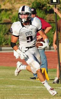 Ben Sukut of Capistrano Valley Christian intercepted six passes in one game when he was a freshman. Photo: cvcsathletics.org.