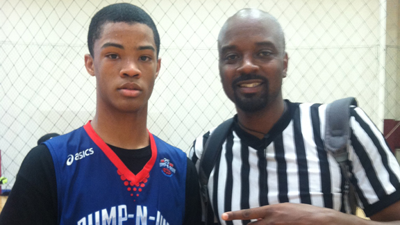Cassius Stanley of Harvard-Westlake (North Hollywood) rates as the top overall college prospect in California's 2019 class. It's early in the developmental process for this group, but as an athlete and leaper Stanley is compared favorably to NBA All-Star Demar DeRozan when he entered Compton High School and to 1996 Cal-Hi Sports Mr. Basketball Corey Bejamin (pictured) when he entered J.W. North in the fall of 1992. Photo: Ronnie Flores