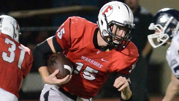 Parker Martin has emerged as a versatile talent in senior year at Fallbrook. He led team to San Diego Section playoff win last week. Photo: Courtesy family.