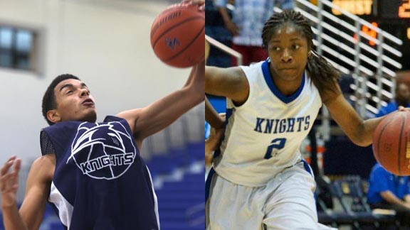 Two of the state's most prolific scorers before Christmas were Johnny McWilliams and Aarion McDonald. Photos: sdhoc.com & Phillip Walton/Sportstars.