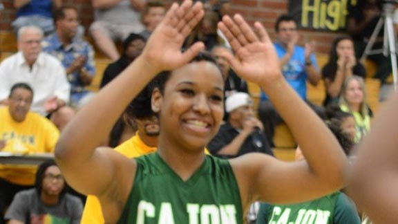 Kayla Washington hopes her outstanding career at Cajon (San Bernardino) doesn't end until March 24 in Sacramento. Photo: GoFundMe.com.