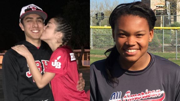 Two of this week's picks are Kyle Nicol of Burroughs (Burbank) & Nerissa Eason of Bear River (Lake of the Pines). Photos: Twitter.com & statesmanjournal.com.