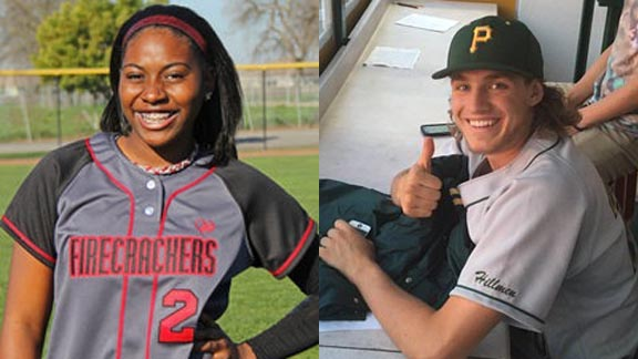 Two of this week's top stat stars are Dari Orme from Vanden of Fairfield and Radd Thomas from Placer of Auburn. Photos: hometeamsonline.com & Twitter.com.