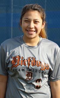 Samantha Mejia from Ridgeview of Bakersfield struck out nearly 600 batters during her prep career. The Fresno State-bound player also batted more than .400 this season. Photo: centralcaldirtdogs.com.