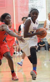 Jasmin Dixon of Cal Sparks is a player to watch from Independence of Bakersfield. Photo: Nicc Jackson/wcgbmedia.