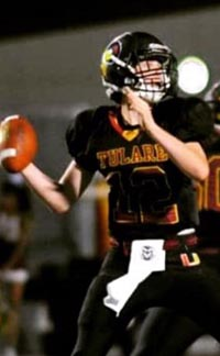 It looks like Tulare will have a QB in the state stat stars honor roll many times in upcoming seasons since this year's QB is sophomore Nathan Lamb. Photo: Hudl.com.