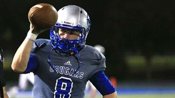 Jacob Norville is in his third season as the starting QB at Capital Christian and has team on verge of CIF Sac-Joaquin Section D5 title after upset of Sonora. Photo: Hudl.com.